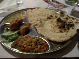 Thali meal at Reine du Kashmir